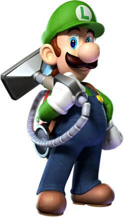 Luigi with the Poltergust 5000 2
