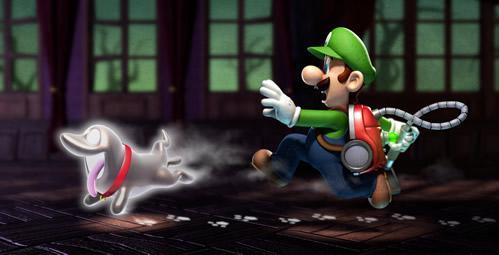 Luigi chasing Polterpup
