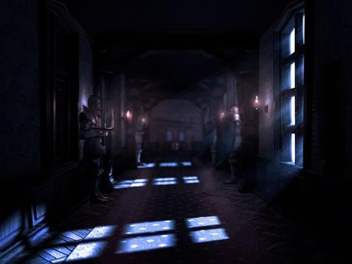 The hallway of Gloomy Manor