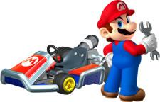 Mario and his standard kart