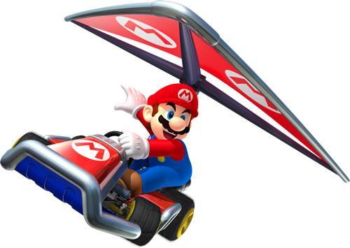 Mario gliding in air