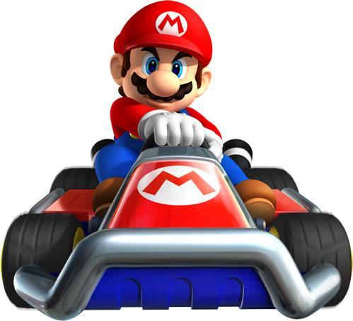 Mario in his standard kart