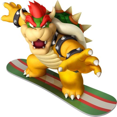 Bowser on Snowboard