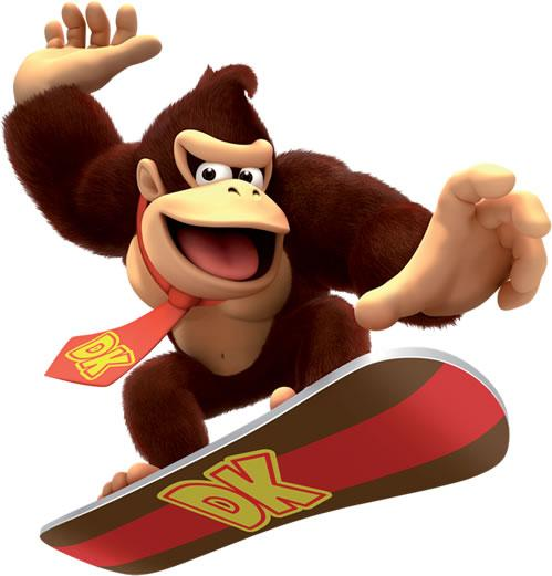Donkey Kong On Snowboard