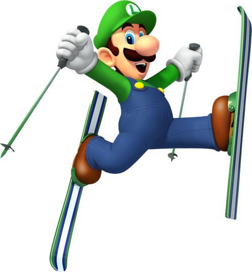 Luigi Skiing