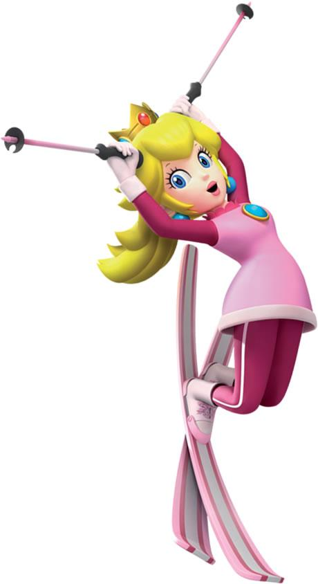 Princess Peach Skiing