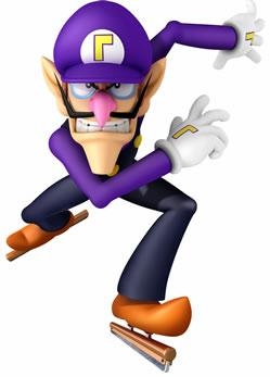 Waluigi Ice Skating