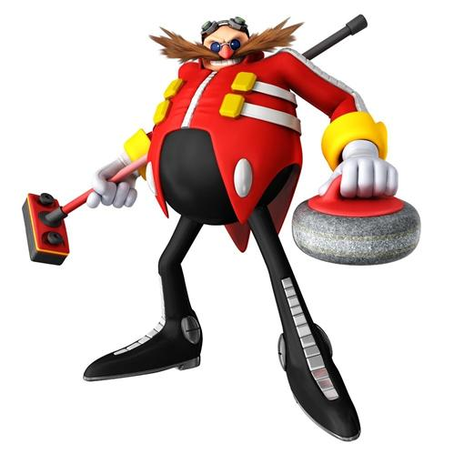 Doctor Eggman Playing Curling