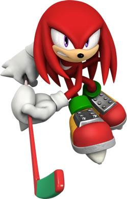 Knuckles the Echidna Playing ICe Hockey