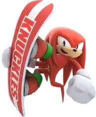 Knuckles the Echidna on Snowboard
