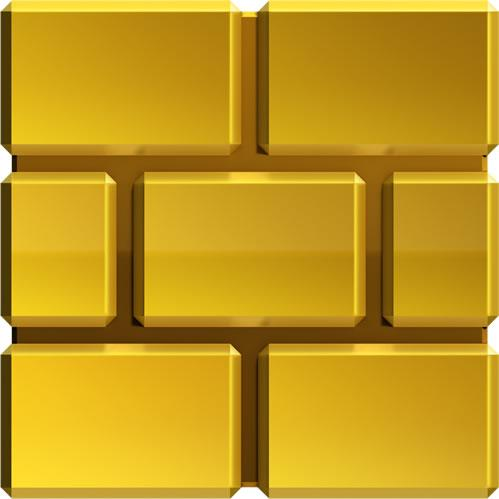 Gold brick block