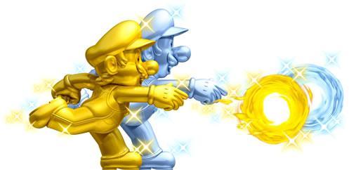 Gold Mario and Silver Luigi
