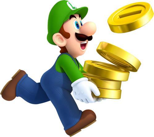 Luigi Carrying Coins