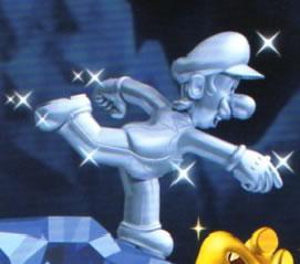 Solo art of Silver Luigi