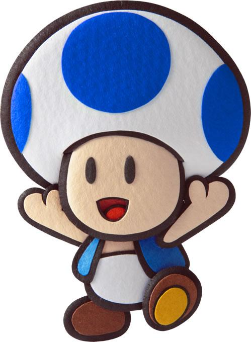 Blue Toad Happy