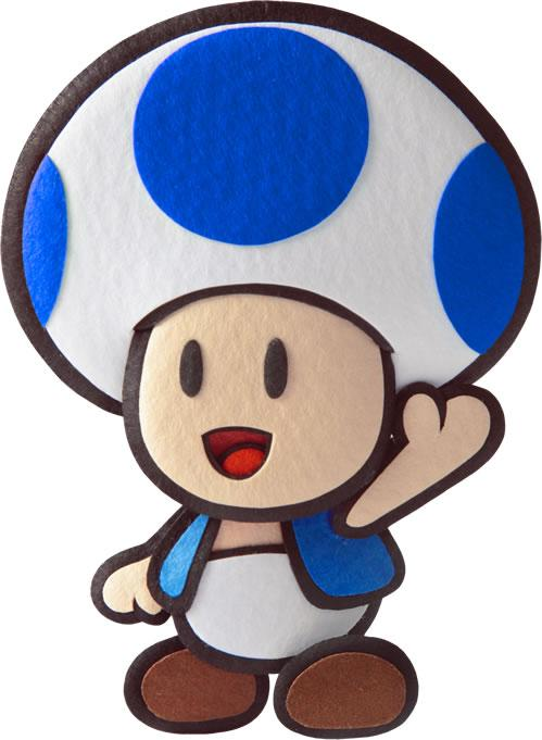 Blue Toad Waving