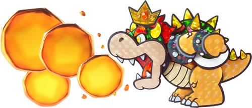 Bowser using his fire breath