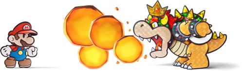 Mario standing in the way of Bowser