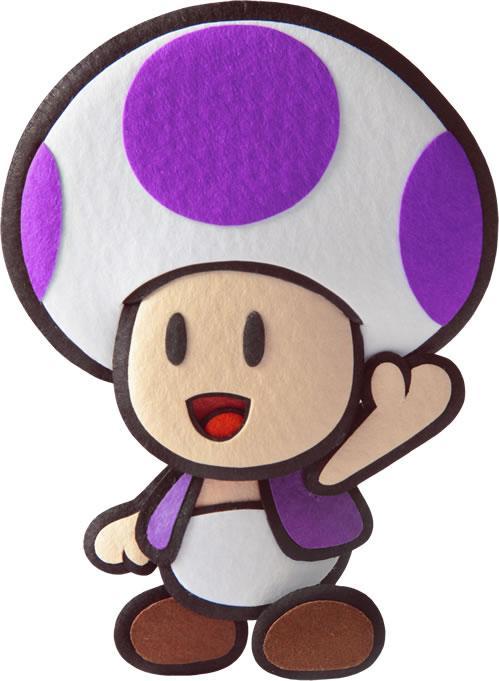 Purple Toad waving