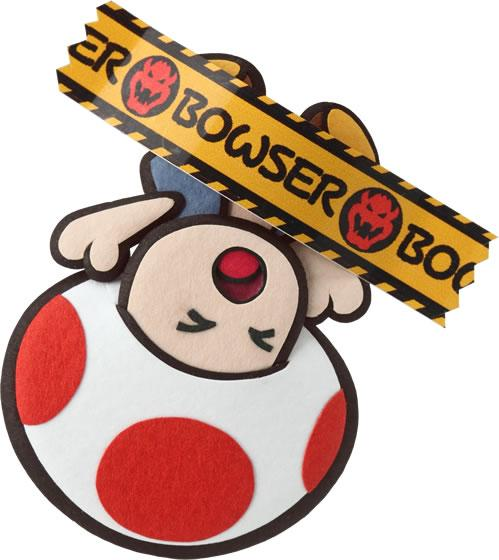 Toad affixed in Bowser Tape