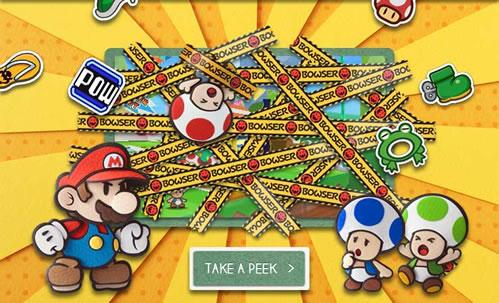 Artwork from Paper Mario Sticker Star Promotional