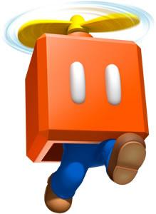 Mario jumping within a Propeller Box