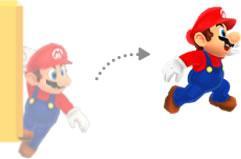 Mario performing a Wall Jump