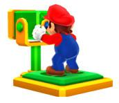 Mario with a pair of  Binoculars
