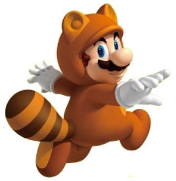Tanooki Mario glide