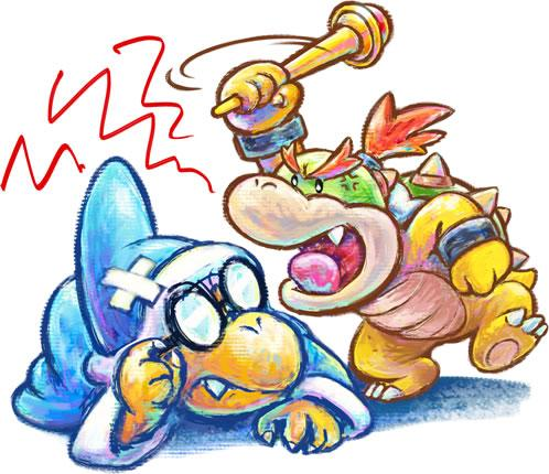 Kamek and Baby Bowser
