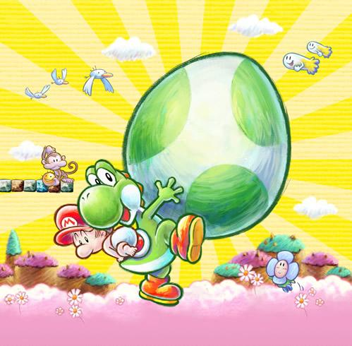 Yoshi Carrying baby Mario And Egg
