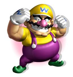 Wario Showing Muscles