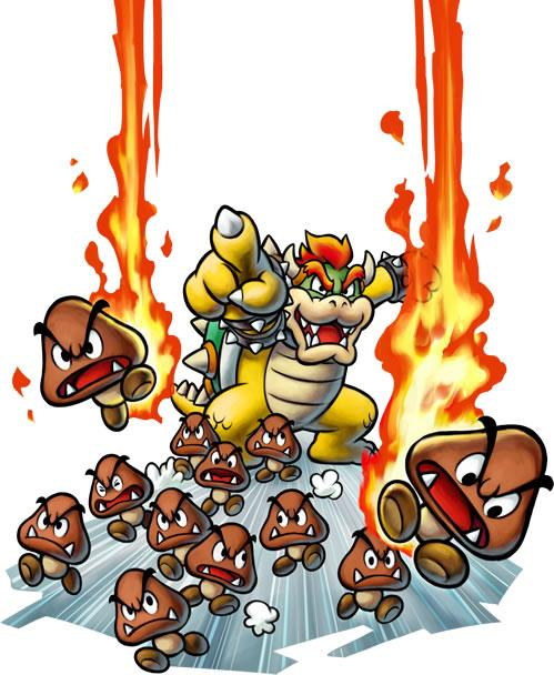 Bowser and his Goomba army