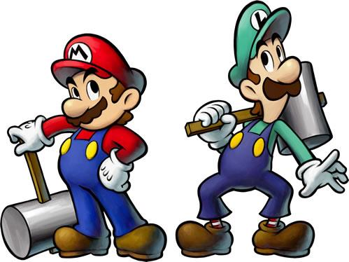 Mario and Luigi With Hammers