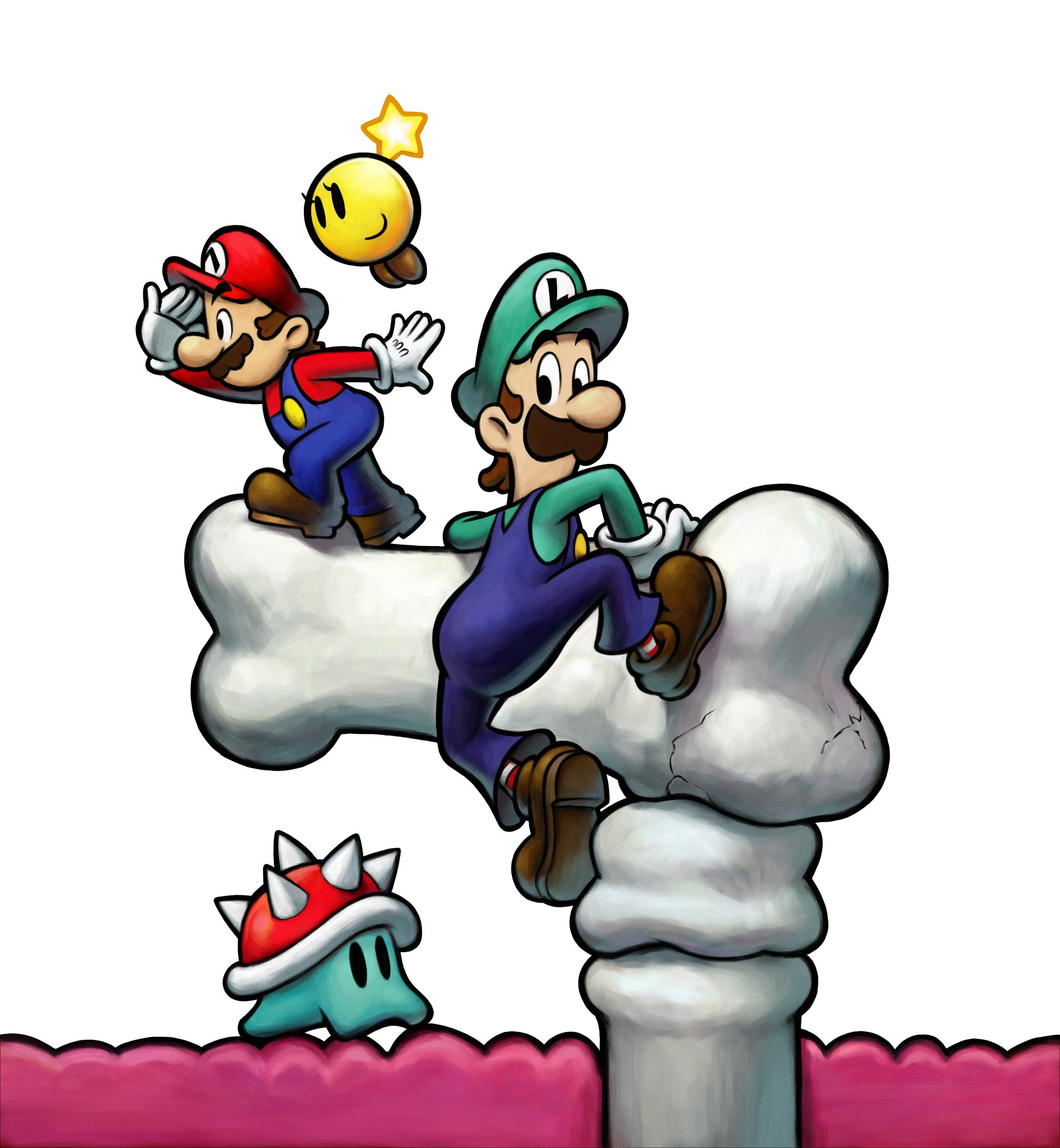 Mario Luigi Bowsers Inside Story Ds Artwork Including