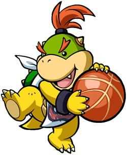Mario Hoops 3 on 3: Bowser Jr on the ball