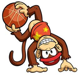 Mario Hoops 3 on 3: Diddy Kong shows his skills