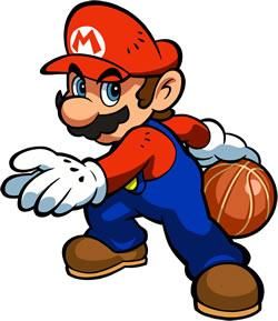 Mario Hoops 3 on 3: Mario ready for action