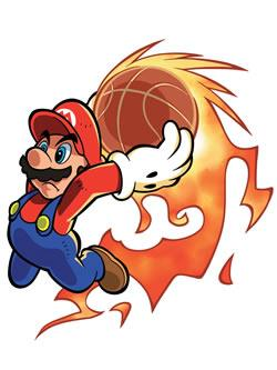Mario Hoops 3 on 3: Mario slam dunks!