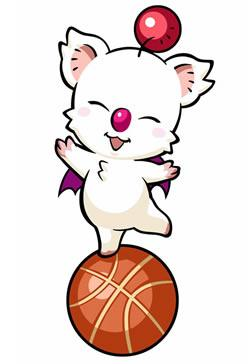 Mario Hoops 3 on 3: Moogle balancing on the ball
