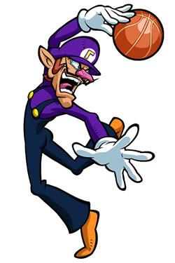 Mario Hoops 3 on 3: Waluigi Slam Dunk