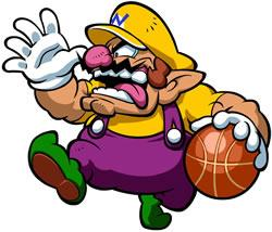 Mario Hoops 3 on 3: Wario taunting