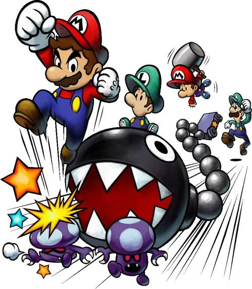Mario And Luigi Partners In Time Ds Artwork Of The Main