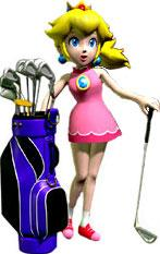 Peach and her Golf Clubs