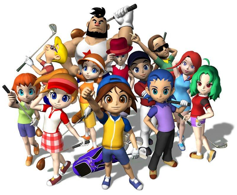 Mario Golf Advance Tour Game Boy Advance Character Artwork