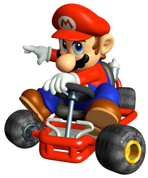 Mario Driving Kart
