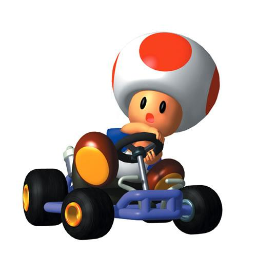 Toad Driving Kart