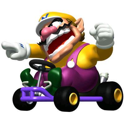 Angry Wario Driving Kart