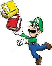 Luigi Dropping Books