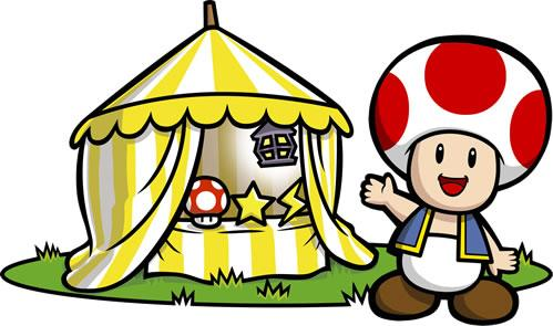 Toad and his tent